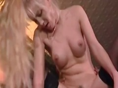 Lean chick with sexy fake tits loves to fuck
