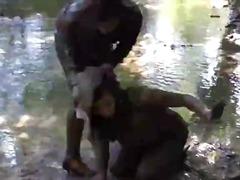 Hargivahe Riides naine vs alasti mees Kauboi Naiseriietes mees Nägu