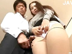 Azijci Japonka Hlačne Nogavice Najstnica Poljub