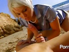 Any cock will do for blonde french girl