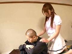 Dildo Jaapani Kontoris Sukkpüksid Punapea