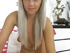 Cute blonde girl fingering wet pussy hd