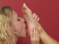 Blond foot worship