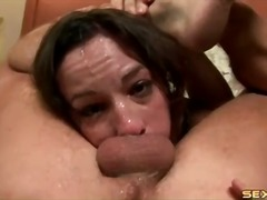 Rough messy facefuck with porn whore amber rayne