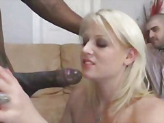 Hot blonde fucks big cock