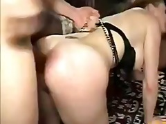 Audrey gets her holes stuffed dp and double anal