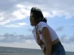 כוסיות סאדו חוף בלונדיניות שעבוד