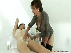 Hot girl teased by dominant bitch