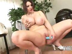 Huge tits in wet shirt