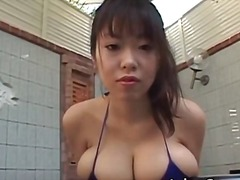 Hot brunette asian hoe with big juggs part1