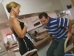 Jodi west french maid handjob