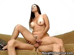Behårede Kusser Bryster Ridesex Naturlige Bryster