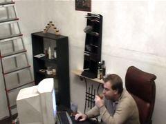 السمراوات نيك قوى كاميرا مخفية في المكتب تجسس