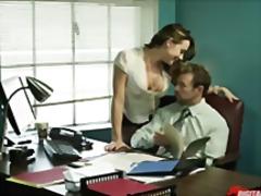Pantat besar Rambut coklat Hardcore Milf Kantor