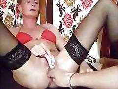 Amatöör Blondid Paar Fetiš Rusikaga