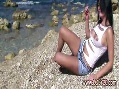 Плажа Бринета Соло Цицки Девојче