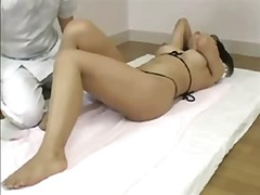 Cute japanese babe gets her sweet wet pussy pleasured by doctor