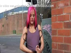 Wheelchair bound leah caprice in uk flashing and outdoor nud