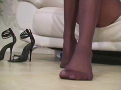 Charlie laine sensuous brown eye inside stockings