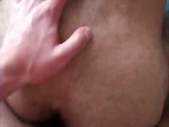 Sexy gay guy blows penis and gets his hairy butthole pounded