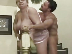 Fat granny fucked by young stud