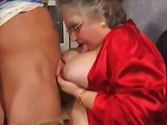 Big granny need a young cock