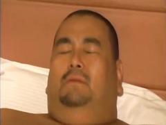 Fat asian guy gets stuffed