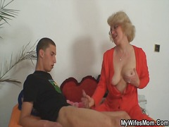 Mom-in-law takes him and housewife comes inside