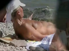 Amadora Praia Ar Livre Público Voyeur