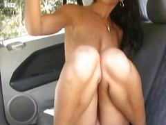 V Autě Masturbace Pornohvězdy