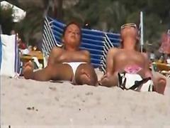 Two lesbians in beach