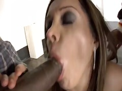 Sexy slutty babe is in for a rude shock as two guys are after her juicy cunt and bang it hard