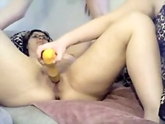 Threesome enjoyment in bath and bedroom
