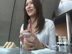 Aziātu Japāņi Publiskais Sekss Garās Zeķes Striptīzs