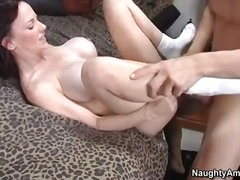 Big cock stud tit fucks friends big tit cougar mom in exchange for books