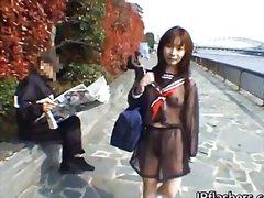 Asiàtiques Morenes Japoneses Públic En Solitari