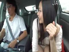 Aziatisch Auto Japans Masturbatie Buiten