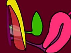 Британки Анимация Близък План Мастурбация Играчка