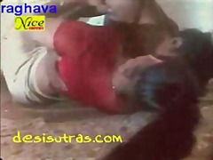 Red blouse aunty
