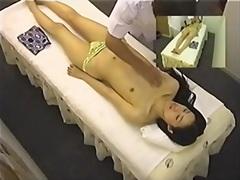 Leggy skinny japanese enjoys a hot erotic massage on spy cam