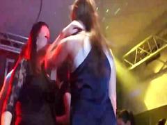לבושות וערום אוראלי מסיבה פוסי מסיבה