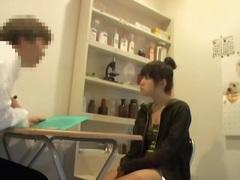 Sweet jap nailed hard in medical fetish spy cam video