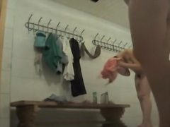 Working spy cam admiring hot booty of change room girl
