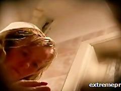 Blondid Kaamera ees Peidus Kodus Küps