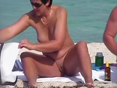 Kinky voyeur takes a sexy trip to the nudist beach