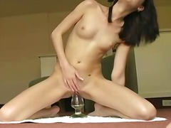Cunt plays with sex toys