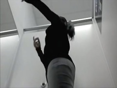 Changing room female in the tight pants on spy cam