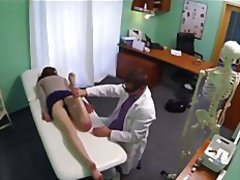 Fake hospital - redhead gets a creampie