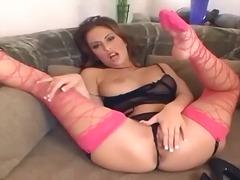 Babe Pekpek Fishnet Takong Orgasm