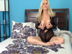 Lace is lovely on chatty babe julia ann